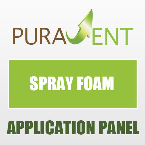 Spray foam application panel